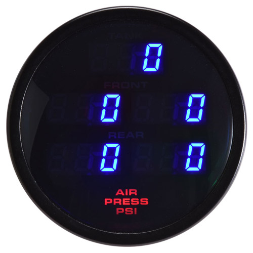 60mm Digital Round 5 Pressure Gauge Blue Air-Tank