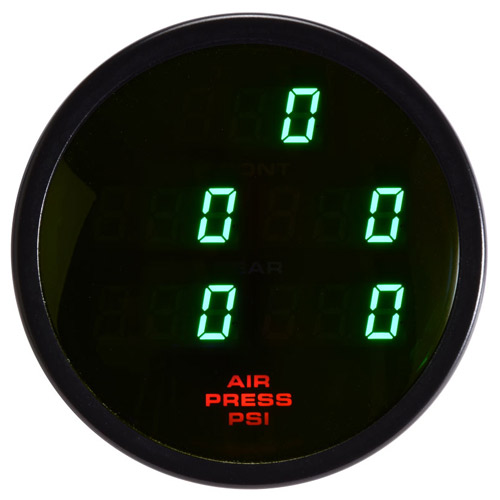 60mm Digital Round 5 Pressure Gauge Green Air-Tank