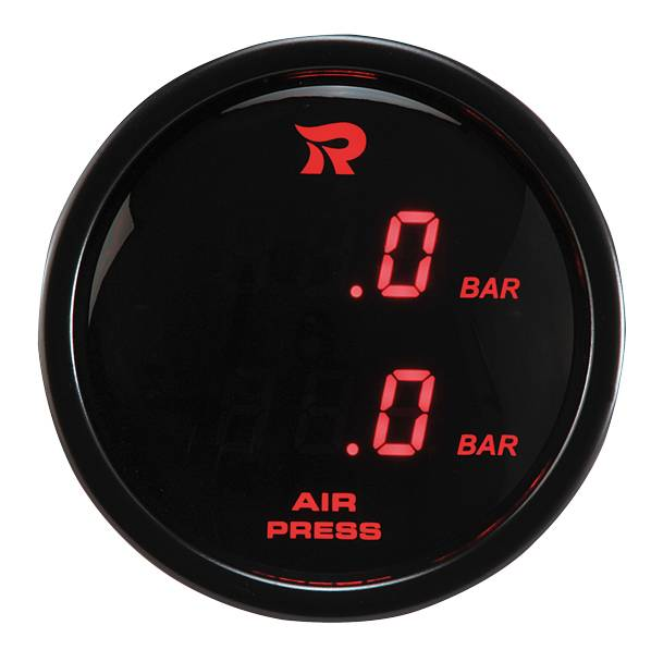 52 mm Digital Dual Display Air Pressure Gauge-BAR