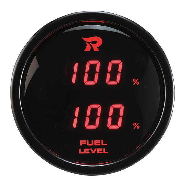 52mm Digital Dual Display Fuel Level Gauge