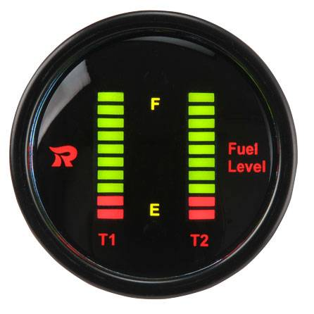 Dual Display Fuel Level Gauge Meter Bar-graph LED