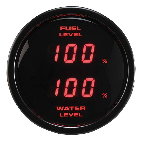 52mm Digital Dual Display Fuel Level and Water Level Gauge