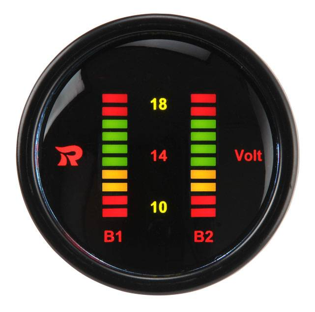 52mm Digital Dual Display Bar-Graph Voltmeter