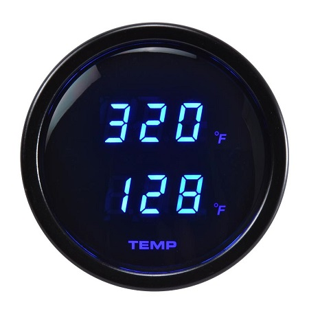 52mm Digital Dual Display Temperature Blue Led Gauge-℉