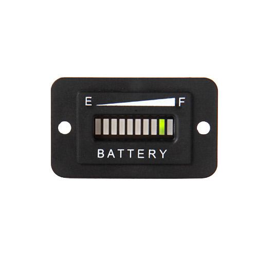 Battery Level Indicator Gauge Rectangular