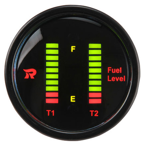 52mm Digital Dual Display Bar-Graph Fuel Level Gauge