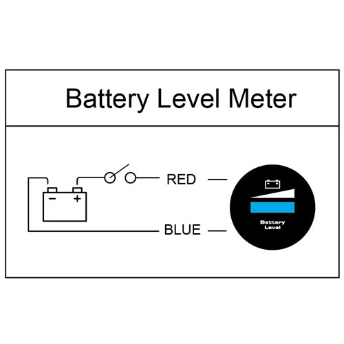 52mm Motorcycle Outdoor Battery Level Indicator