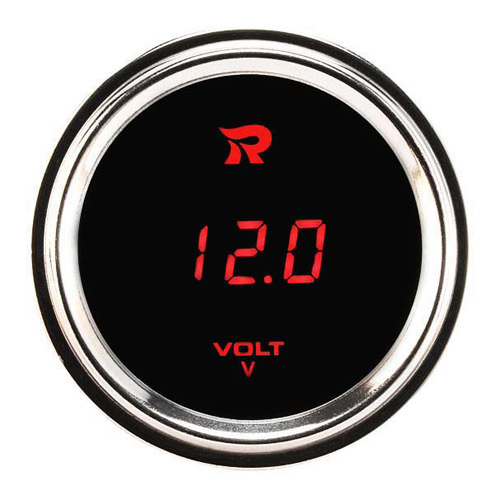 52mm Motorcycle Outdoor Digital Voltmeter