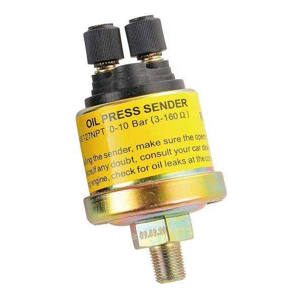 Mechanical oil pressure sensor